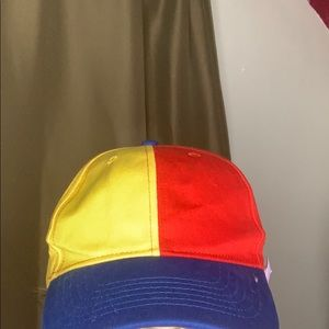 Primary color dad cap